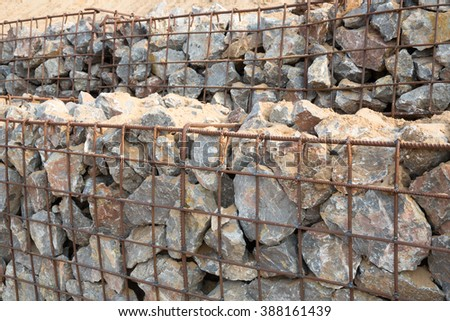 Many of the stones are in the grating 