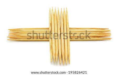 Many of the toothpick on a white background - stock photo