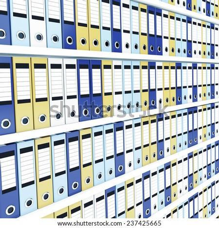 Many office folders - stock photo