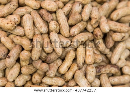 Many peanuts in shells use for backgound
