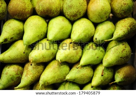 many pears in the store