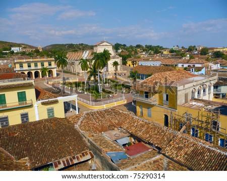 Many poverty shacks in the Cuba - stock photo