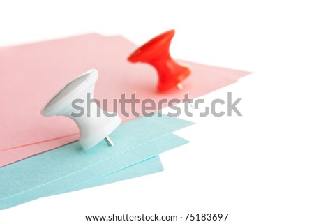 Many reminder notes  isolated on a white background