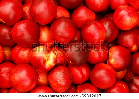 Many ripe nectarines, suitable for summer background