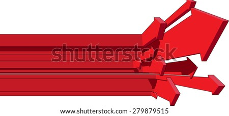 many rising arrows in business diagram  - stock photo