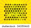Many scratched stars into a beams sun (raster) Vector version this Image ID: 33833680 - stock photo