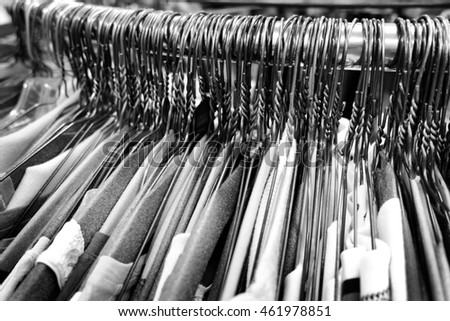 Many Several Metal Wire Hangers On Stock Photo 367294043 ...