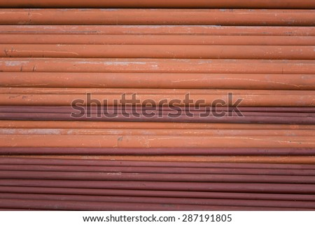 many size of steel pipes, construction material - stock photo