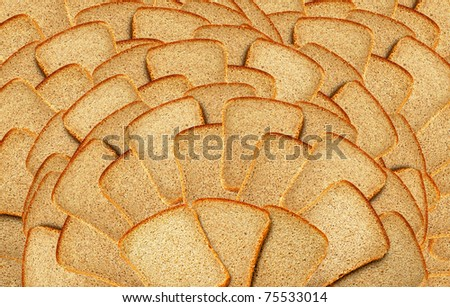 Many slices of bread as background - stock photo