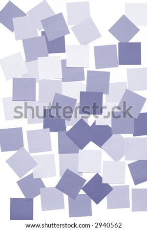 many sticky notes on white wall - stock photo