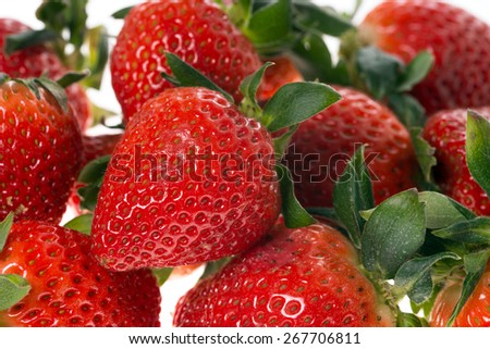 many Strawberries / Strawberries - stock photo