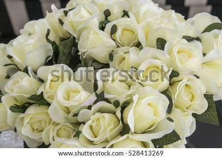 Many white roses as a floral