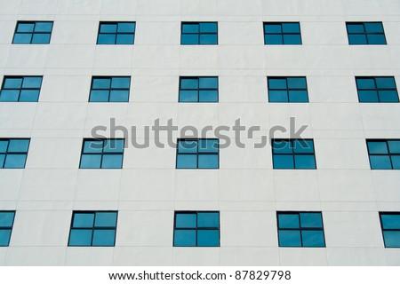 Many windows on a building - stock photo