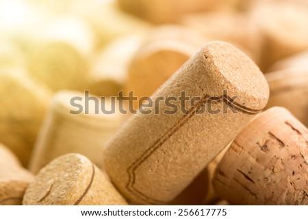 Many wine corks  - stock photo