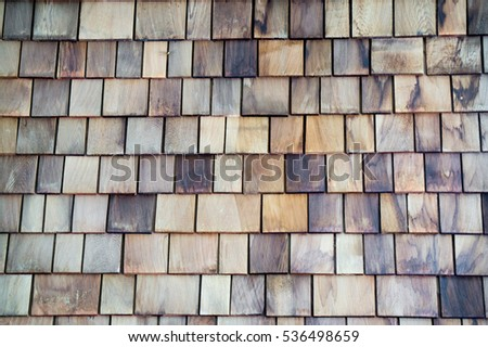 Many wood plates on wall for decoration