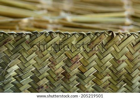 Maori weaving artwork background texture. - stock photo