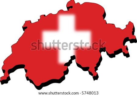 Map as flag switzerland