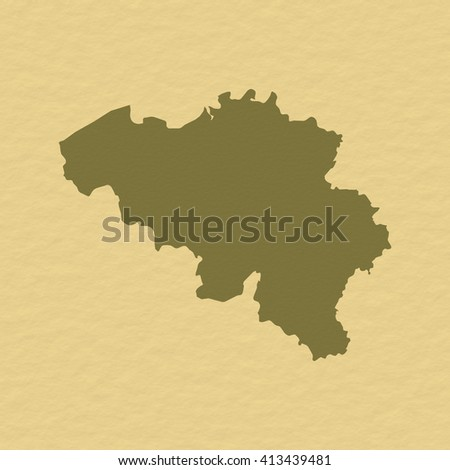 Map - Belgium - stock photo