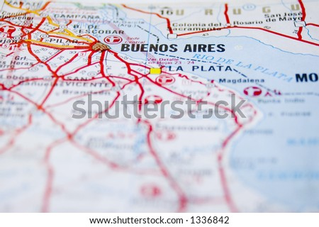 Map Buenos Aires Argentina