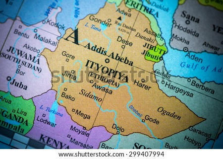 Map Ethiopia Cuba On Geographical Globe Stock Photo (Edit Now ...