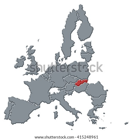 Map - European Union, Slovakia