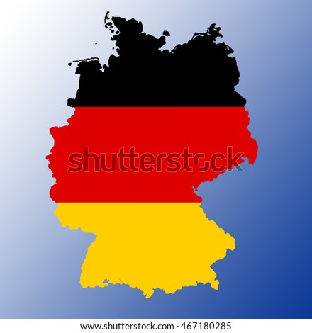 Map flag of Germany