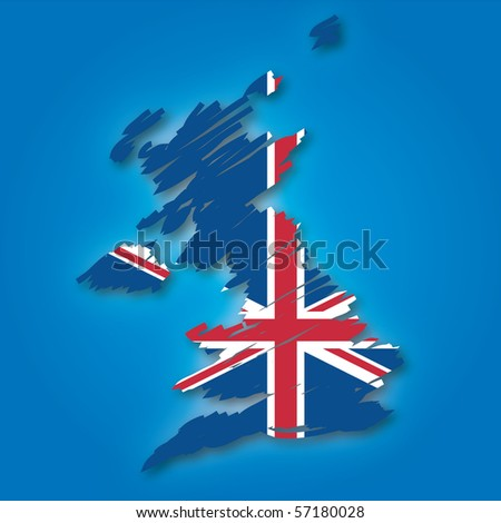 map flag of the UK