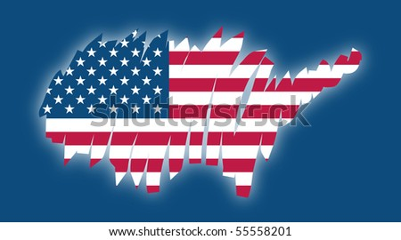 map flag United States