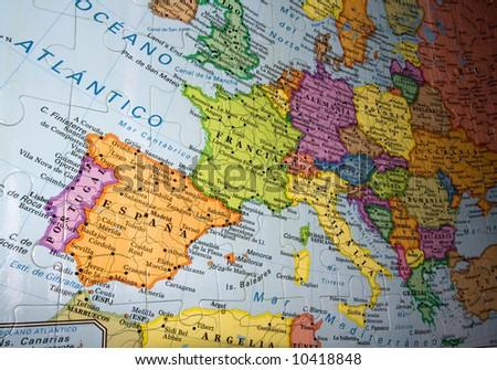 map/ globe puzzle - stock photo