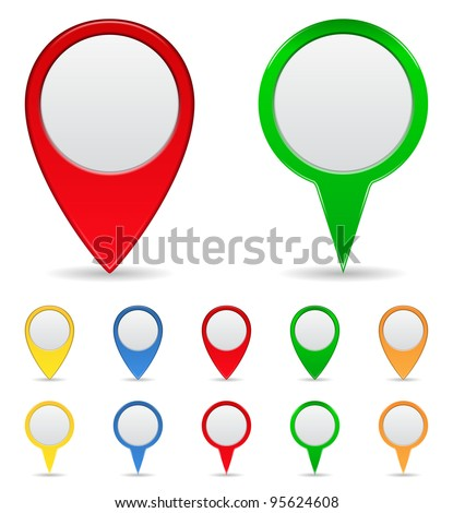Map Markers - stock photo