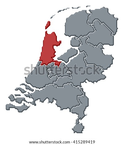 Map - Netherlands, North Holland