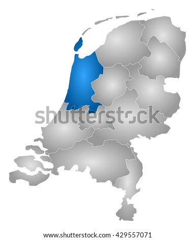 Map Netherlands North Holland Stock Illustration 429557071