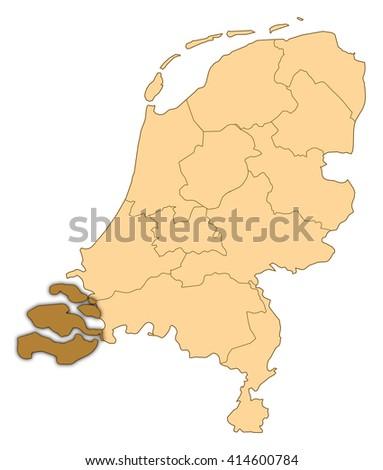 Map Netherlands Zeeland Stock Illustration 414600784 Shutterstock