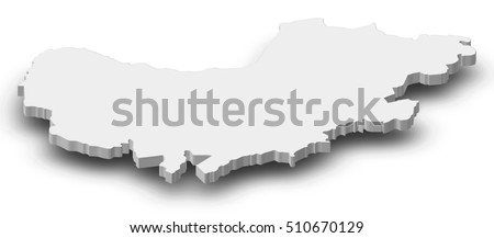 Map Western Cape South Africa 3dillustration Stock Vector
