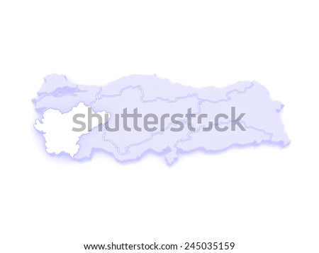 Map of Aegean. Turkey. 3d - stock photo