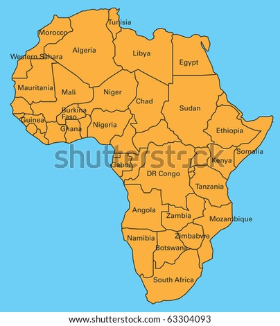 map of africa - stock photo