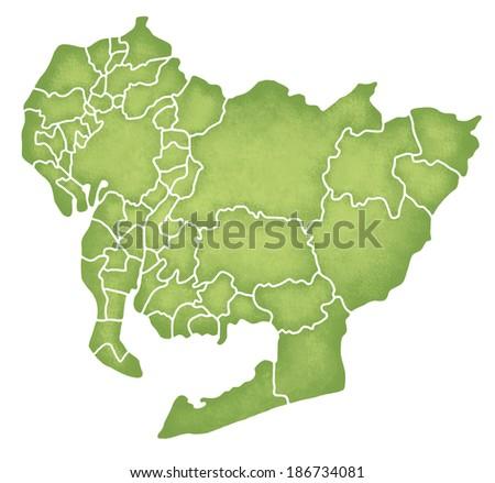 Map Aichi Japan Stock Illustration Shutterstock - Japan map aichi