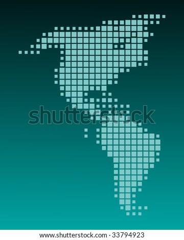 Map of America - stock photo