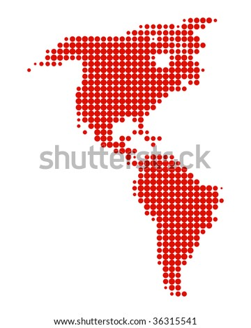Map of America - stock photo
