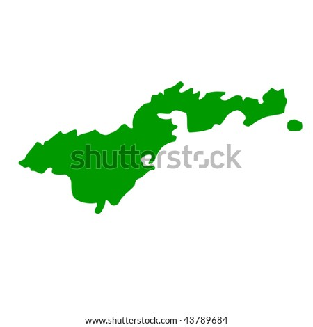 Map of American Samoa, isolated on white background.