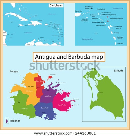 Map Antigua And Barbuda Stock Images RoyaltyFree Images - Antigua and barbuda map