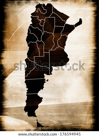 Map of Argentina - stock photo