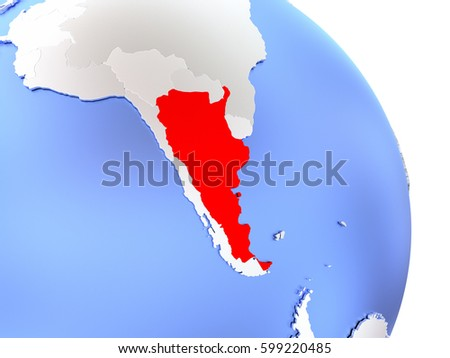 Quotargentine Mapquot Stock Images RoyaltyFree Images - Argentina globe map