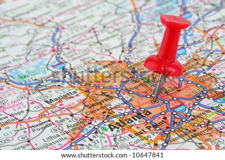 Map of Atlanta - stock photo