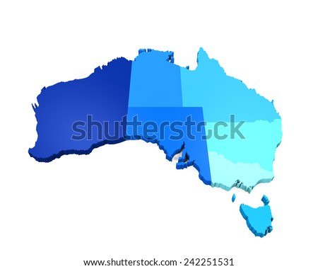 Map of Australia - stock photo