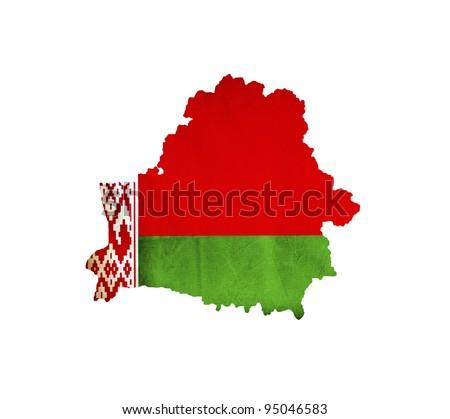 Map of Belarus isolated - stock photo