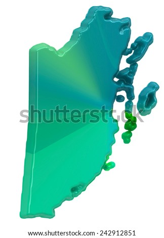 Map of Belize - stock photo