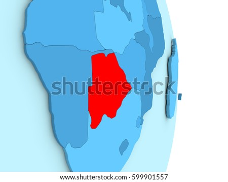 Map botswana on blue globe visible stock illustration 599901557 map of botswana on blue globe with visible country borders and countries in different shades of gumiabroncs Image collections