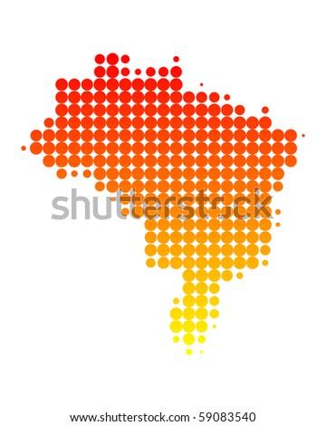 Map of Brazil - stock photo