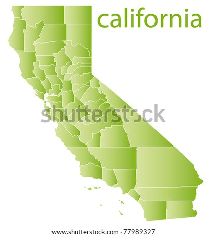 map of california state, usa